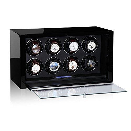 Modalo Unisex Zubehör Uhrenbeweger für 8 Automatikuhren verschiedene Materialien schwarz 3908113 - 3