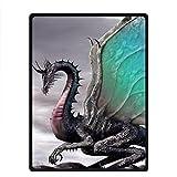 """needyou dragón manta de forro polar forro polar 58""""x 80"""" al aire libre interior"""