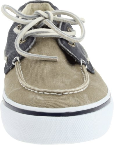 Sperry Bahama Canvas, Mocasines de Lona Para Hombre, Azul (Navy/Taupe), 42 EU (8 UK)