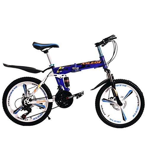 Kids Fold Mountain Bike Kinder Lernen Training Radfahren Leicht 6-12 Jahre Kinder Jungen Mädchen Laufen Sicherheit Erste Mountain Bike , blue