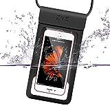 Universal Wasserdichte Hülle, ZVE IPX8 Samsung S8 S7 iPhone 8 7 6 X Wasserfest Handy...