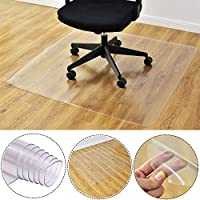 GE&YOBBY Pvc Office Chair Floor Mat,cube Square Transparent Floor Protector Scrub Chair Rug For Desk Office Chair Hardwood Door-b 140cmx140cm