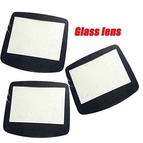 Original Glas Material Objektiv Passform für GBA Gameboy Advance Spiel Konsole Displayschutzfolie Cover Pannel Schwarz Schwarz 2 Pcs