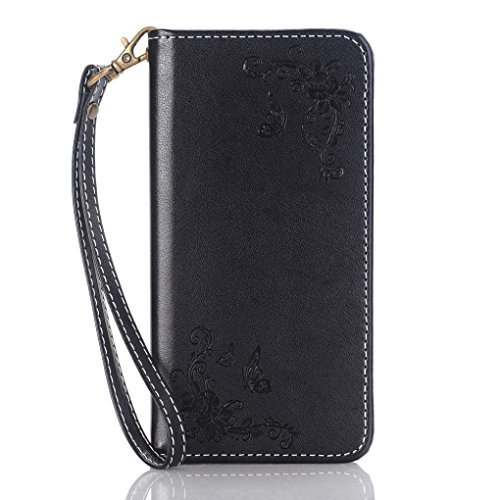 GBSELL New Wallet Leather Phone Case Cover For Samsung Galaxy J5 (Black)