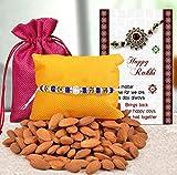 TIED RIBBONS Designer Brother Rakhis for Rakshabandhan with Gift Almonds