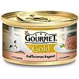 Gourmet Gold Raffiniertes Ragout Lachs, 12er Pack (12 x 85 g) Dosen
