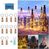 Luces de Botella Cadenas Luces para Botella de Vino Luz Corcho Lámpara Decorada, EVILTO...