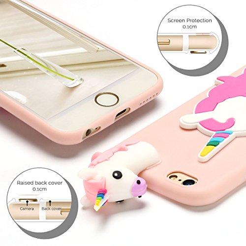 Cover iPhone 6 Spiritsun Case iPhone 6S Moda Ultraslim Soft TPU Case 3D Diy Handy Kawaii Cover High Quality Case Elegante Souple Flessibile Liscio Copertura Perfetta Protezione Shell Morbido Silicone  Corni
