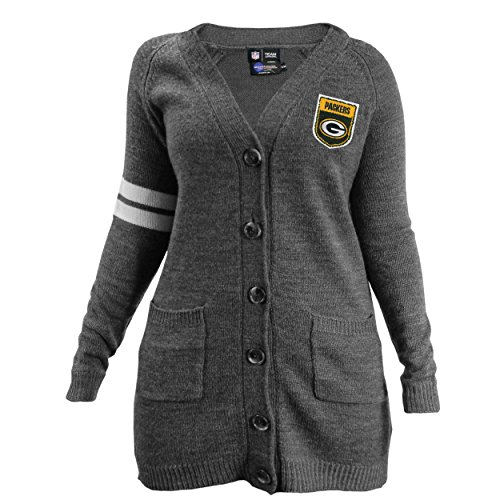 nfl-green-bay-packers-womens-varsity-cardigan-small-medium-gray-by-littlearth