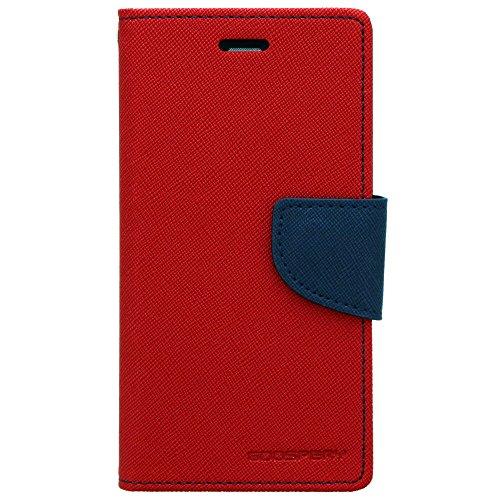 Cubezap Mercury Goospery Fancy Diary Wallet Flip Case Back Cover for Xiaomi Xiomi Redmi 1s Redmi1s - Red Blue