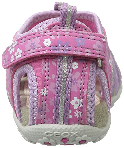 Geox Roxanne C, Sandales Bout Ouvert Fille Rose (Fuchsia/Lilacc8257)