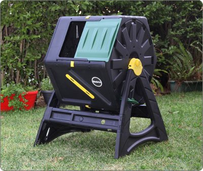 Dual 105 Litre ( 2 composters 105L each ) Tumbling Composter - Speeds up process - Effortless turning - Easy to assemble - Aeration and mixing system - Heavy Duty structure - Suitable for year round use - Recycled Plastic contained composter - Rat Free solution.