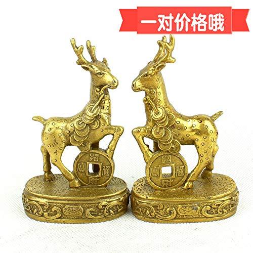 DAJIADS Estatua,Jirafa Cobre Puro Feng Shui Lucky