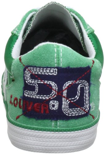 S.Oliver Casual 5-5-43204-20 Jungen Sneaker Grün (Green Comb 721)
