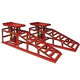 Deet® Heavy Duty Auto Rampen. Auto Lifting Rampen mit 2Tonnen Jack für extra Lift. Professionelle Hydraulische Auto und Van Lifting Kit