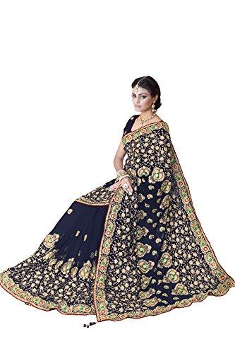 Bollywood Frauen Braut Hochzeit Saree Mirchi Fashion Bestickt indischen Sari