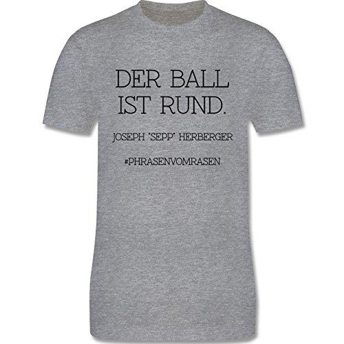 EM 2016 - Frankreich - Der Ball ist rund - Herren Premium T-Shirt Grau Meliert