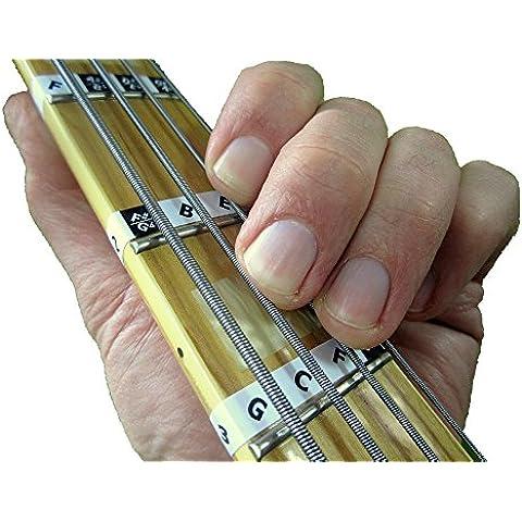 FRETNOTE - Adesivi per basso, confezione da 13 pezzi, con note per tastiera a 4 corde, per apprendimento