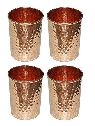 Stylla London Pure martelé gobelets, Cuivre, 8.1 x 4.2 x 3.7 cm