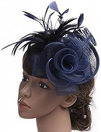 HYW Hat-Ms. Tocados de otoño e Invierno Sombreros de Novia Europeos y  Americanos Hilado de Lino Tocado Gorra de… 3c5c6dcb2126