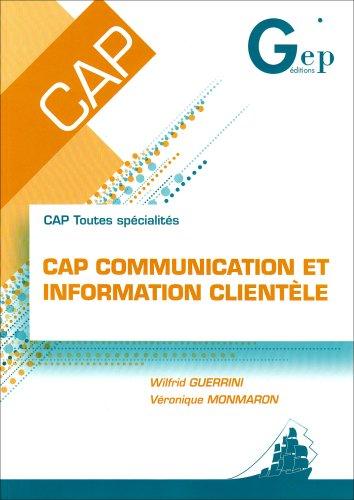 CAP communication et information clientèle : CAP toutes spécialités