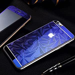 ScratchfreeCore Electroplated Mirror Finish Glossy Brushed Metal Effect Coloured 3D Diamond Front & Back Tempered Glass For Apple iPhone 6,6S,6G