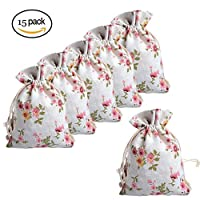 Shengchu Gift Bags Linen Drawstring Bags Perfect for Party Favor Wedding Party and DIY Craft (style# 1)