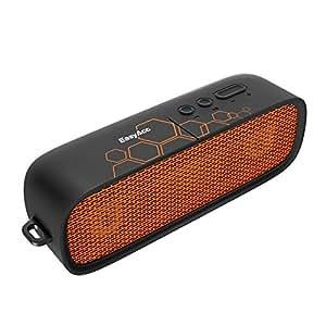 EasyAcc Outdoor Bluetooth Lautsprecher Tragbare IPX4 Wasserdichte Musikbox Wireless Speaker Glück Lucky für Fußballspiel, Dual 3W Treiber, mehr als 15 Stunden Spielzeit, mit Mikrofon und AUX Funktion, Schwarz/Orange