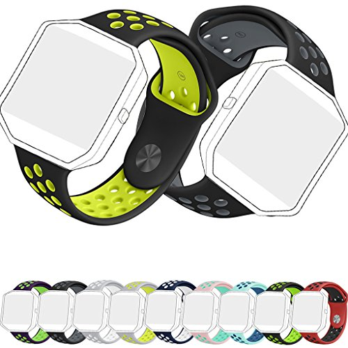 Tolulu Designer Large Small Sports Accessory Silicone TPU Wrist Bands Strap Band Bracelet For Fitbit Blaze Fitness Smart Watch