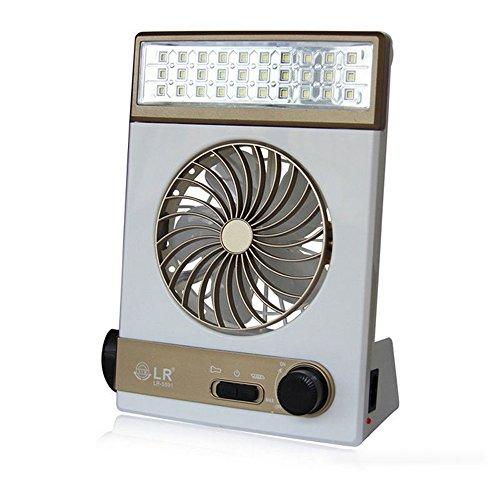 Unbekannt Solarenergie/AC Rechareable 3-in-1 Camping Kühle Fan Licht Zelt LED Laterne Kühler - Fernbedienung Laterne