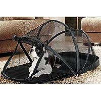 Jiyaru Plegable Perro Tienda de Mascotas Gato Camping casa para Interiores al Aire Libre Negro