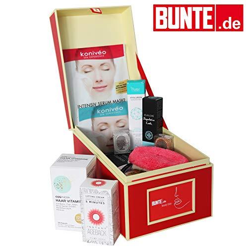 BUNTE.de Beauty-Box gefüllt mit Bestsellern - Warenwert über 240€