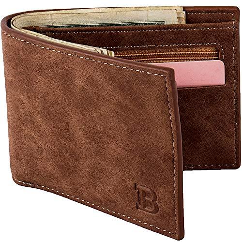YQXR Geldbörsen und Clips, Herrenbrieftasche Geldbörse US Dollar Tasche Münztüte Geldbörse (Color : Brown, Size : S)