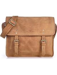 Leder Messengerbag URBAN FOREST Cntmp Businesstasche Aktentaschen Umhängetasche Echt-Leder DIN-A4 37x28x11cm (B x H x T)