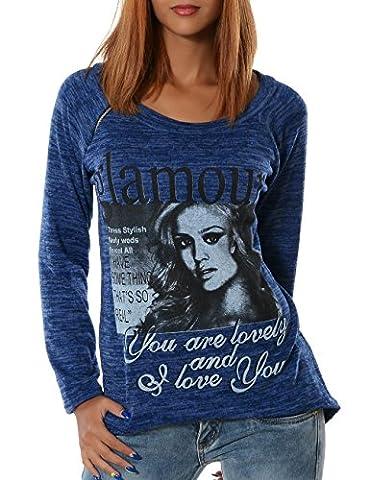 Damen Pullover (weitere Farben) No 13402, Farbe:Blau;Größe:One Size