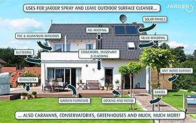 4 x 5 Litre Concentrate Jarder Spray & Leave Cleaner - Patio Fencing Decking - Moss Mould & Algae Killer