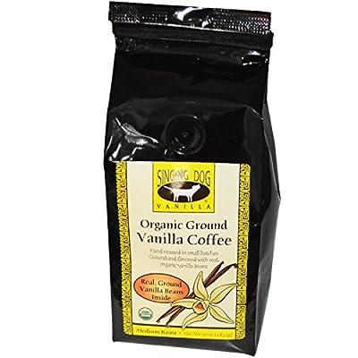 Singing Dog Vanilla, Organic Ground Vanilla Coffee, Medium Roast, 10 oz from Singing Dog Vanilla
