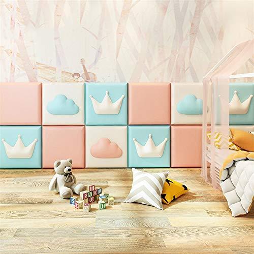 Liveinu 3D Wandpaneel Deckenpaneele Fliesen Wandbezug Wandverkleidung Wanddeko Wandplatten DIY Wärmeisolation Wasserdicht Wandaufkleber für Wände Hintergrund Wand Dekoration 30x30cm Bogen Weiß -