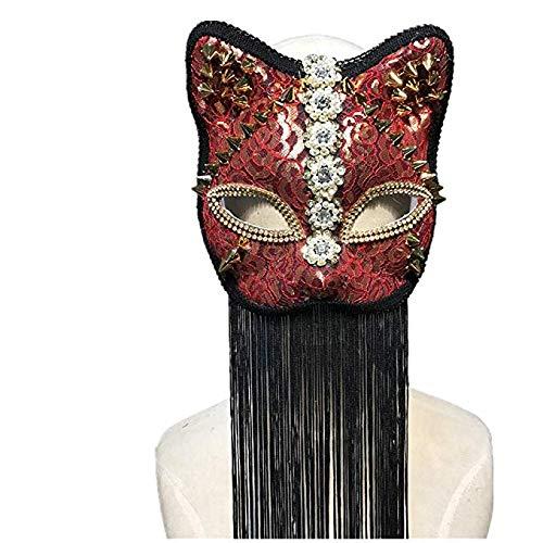 Changlesu Steampunk Halloween Mask Tier Maskerade Nachtclub handgefertigt Kostüm Zubehör ()