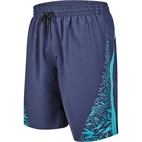 Speedo Boom Yoke Splice Short de bain pour homme XXL Bleu marine/jade
