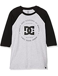 e817f2147 DC Shoes rebuilt2 camiseta para niño Light Heather Grey fr  14 ans (talla  fabricante