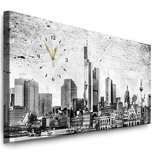 Cuadro Pared Reloj Julia-Art Wu-12a Imagen Ciudad