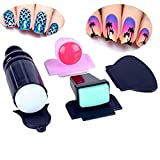 BTArtbox HOT Plastic Scraper Nail Art Image Stamping Plate Double Ended Silicon Stamper Manicure Tool Kit Set