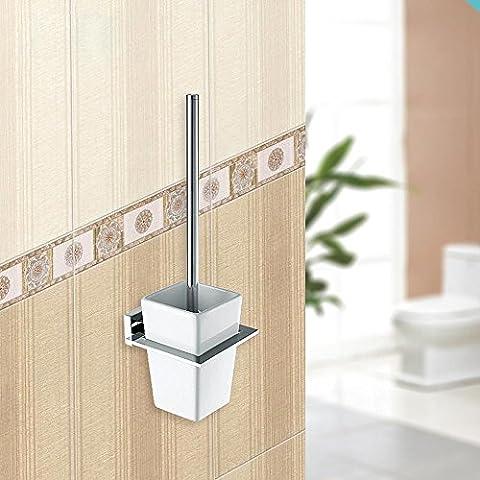by-fashion einfach WC WC-Bürste, messing, verchromt, Single Pole Hochwertige WC-Bürste