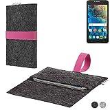 flat.design Handy Hülle Aveiro für Alcatel One Touch Pop 4S passgenaue Filz Tasche Case Sleeve Made in Germany