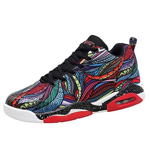 Dtuta High-Top-Basketball-Schuhe, Männer Klassische atmungsaktive Casual Sportschuhe Athletic Running Sneakers Schwarz, Weiß