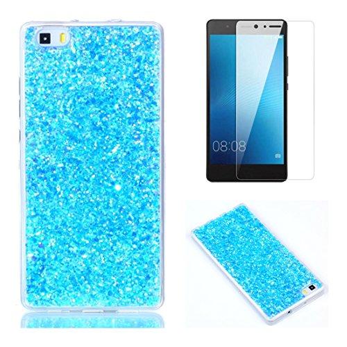 Custodia per Huawei P8 Lite 2016 Cover Silicone Brillantini ,OYIME Glitter Paillettes Design
