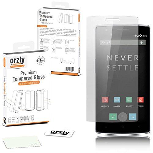 Orzly - OnePlus ONE Premium vetro temperato 0,24 millimetri Protezione di schermo protettivo per il lancio del modello originale Premier di SmartPhone chiamato 'ONE' da ONE PLUS (Alias: New 2014 versione Versione / First Ever Flagship modello di Smart Phone rilasciato da 'ONE PLUS' conosciuto come il 'ONE' / ecc)