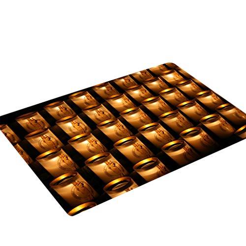 ZEELIY Antirutschmatte Teppichunterlage Teppichstopper Rutschschutz für Teppich Teppich Antirutsch Rutsch Stop Notre Dame de Paris Pattern Square Bereichswolldecke Fleece Kitchen Bathroo 50X80CM