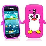 SKS Distribution® Heiß Rosa Samsung Galaxy S3 SIII Mini i8190 Pinguin niedlichen Tier Silikonhülle Shell Beschützer Handy Smartphone Zubehör